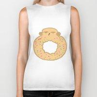 doughnut Biker Tanks featuring Bovi-doughnut by Francine