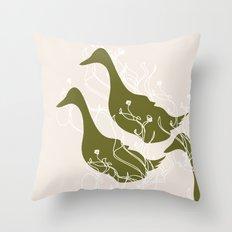 Duck Poster Throw Pillow