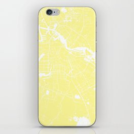 Amsterdam Yellow on White Street Map iPhone Skin