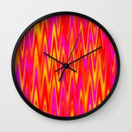WAVY #1 (Reds, Oranges, Yellows & Fuchsias) Wall Clock