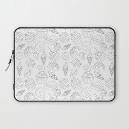 Sweets & Treats - Black & White Laptop Sleeve