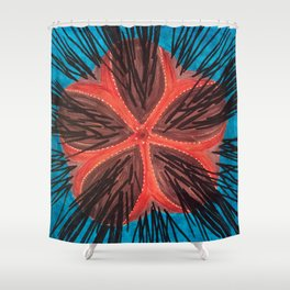 Fire Urchin Shower Curtain