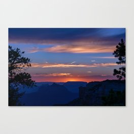 Colorful Sunset - North_Rim, Grand_Canyon, AZ Canvas Print