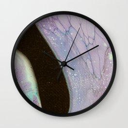 Dirty Acrylic Paint Pour 25, Fluid Art Reproduction Wall Clock