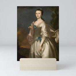 Elizabeth Browne Rogers  by Joseph Blackburn, c.1730 - c.1778 Mini Art Print