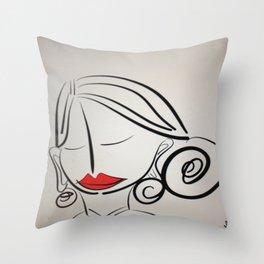 Lips Throw Pillow
