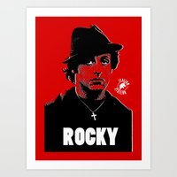 rocky Art Prints featuring ROCKY by Adam Doyle