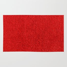 Rose Red Shag pile carpet pattern Rug