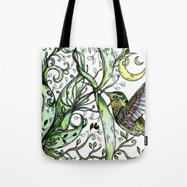 Hummingbird Garden Party Tote Bag