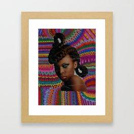 Glances Framed Art Print