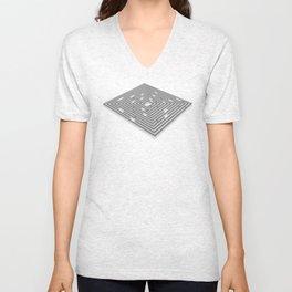 maze - labyrinth Unisex V-Neck