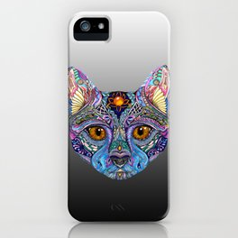 Mystic Psychedelic Cat iPhone Case