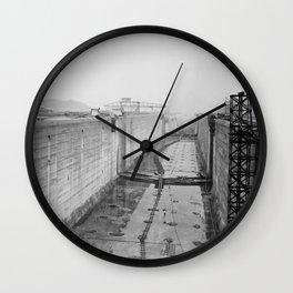 Panama Canal construction Wall Clock