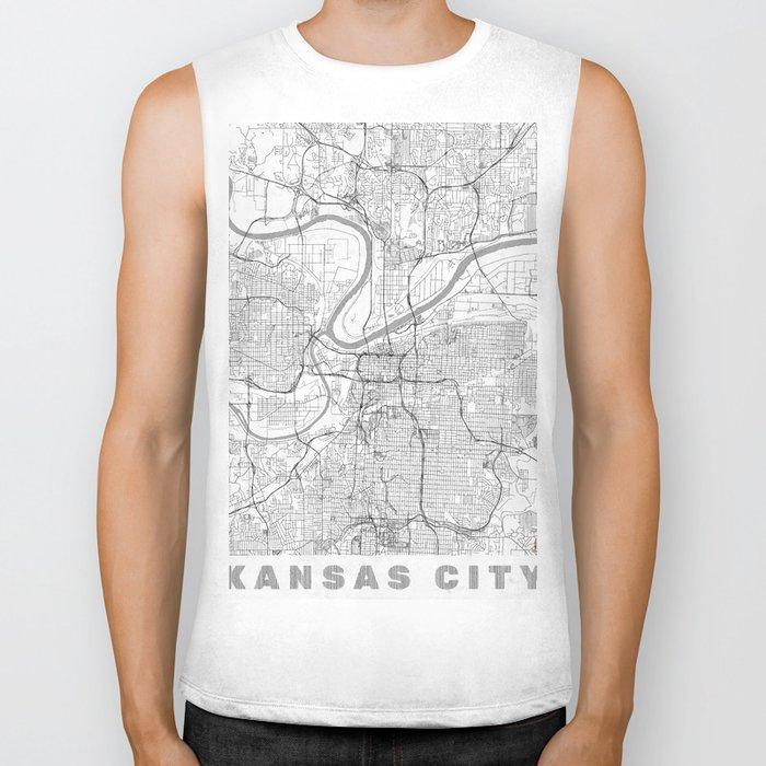 Kansas City Map Line Biker Tank