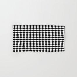 mini Black and White Mini Diamond Check Board Pattern Hand & Bath Towel