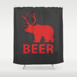 DEER & BEAR = BEER Shower Curtain