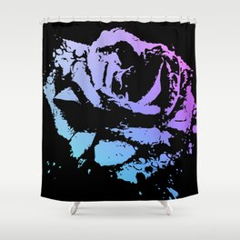 Splattered Rose Shower Curtain