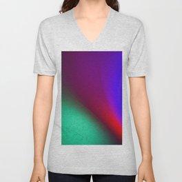 Rainbow colour waves Unisex V-Neck