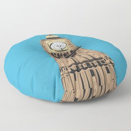 London Big Ben Floor Pillow