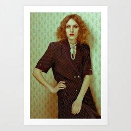 Ghost woman Art Print