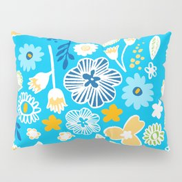 swedish summer blue Pillow Sham