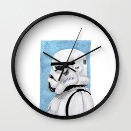 Stormtrooper portrait Wall Clock