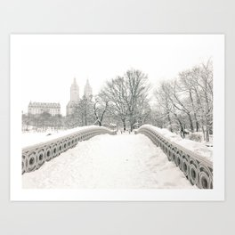 Winter Snow in New York City Art Print