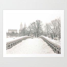 Winter Snow in New York City Art Print