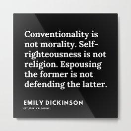 88   | Emily Dickinson Quotes | 191130 Black Metal Print