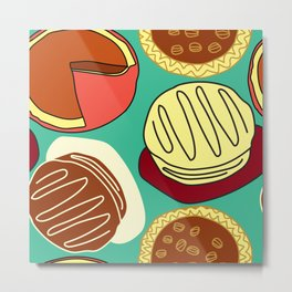 Pie, Blue Green, and Cake Metal Print