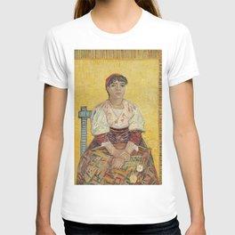 The Italian Woman by Vincent van Gogh, 1887 T-shirt