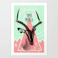 tame impala Art Prints featuring Tame Impala by - OP -