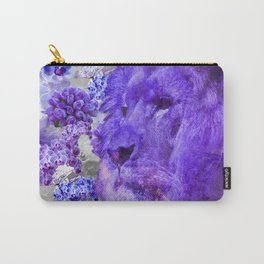 LION AND ORCHIDS  PURPLE AND BLUE FANTASY DREAM Carry-All Pouch