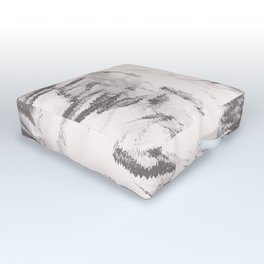 I See Beauty - Warm Black & White Outdoor Floor Cushion