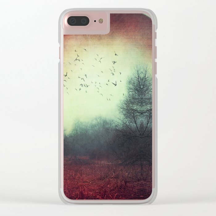 unReality - Fantastic Landscape with Red Planet Clear iPhone Case