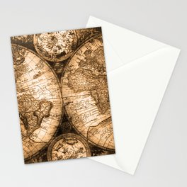 World Map Antique Vintage Maps Stationery Cards