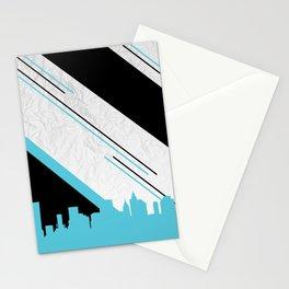 Diagonal Blue Stationery Cards
