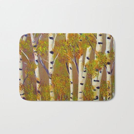 Birch trees-3 Bath Mat