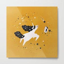 Stellar Unicorn with Stars Metal Print