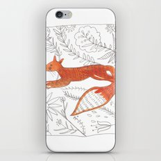 Decorative fox iPhone & iPod Skin