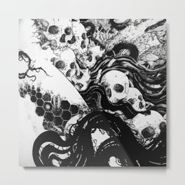 SKULLS DIAPER Metal Print