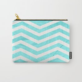 Patterned Chevron (Blue) Carry-All Pouch