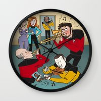 band Wall Clocks featuring Star Trek Jam Band by Jessica Fink