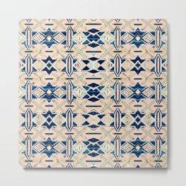 Geometrical pattern of marbles Metal Print