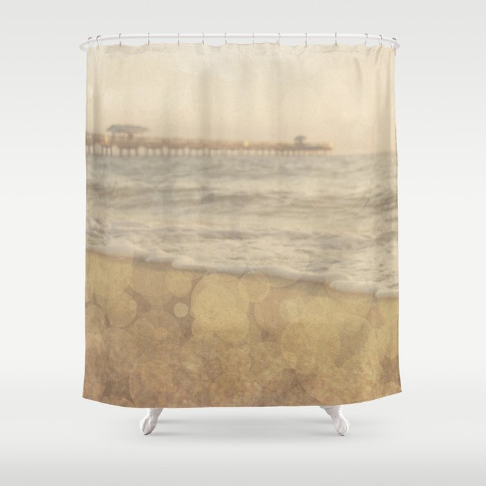 Vintage Beach Shower Curtain By Purenaturephotos