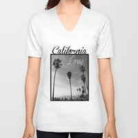 tupac V-neck T-shirts featuring California Love  by Gold Blood