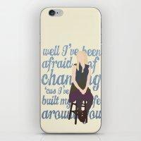glee iPhone & iPod Skins featuring Brittana - Glee - Brittany Pierce [Solo] Landslide typography minimalist design by Hrern1313
