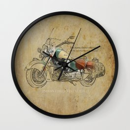 Indian Chief Vintage 2012 Wall Clock