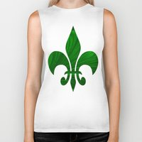 renaissance Biker Tanks featuring Renaissance Green by Charma Rose
