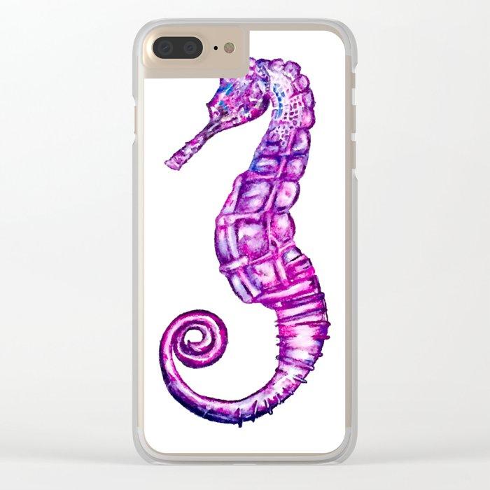 Sea Horse Clear iPhone Case